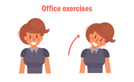 Exercises for office. Vector. Illusztráció