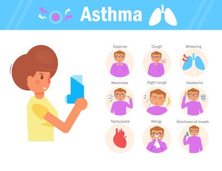 Asthma Vector. Cartoon. Isolated