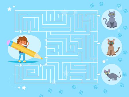 Childrens maze game