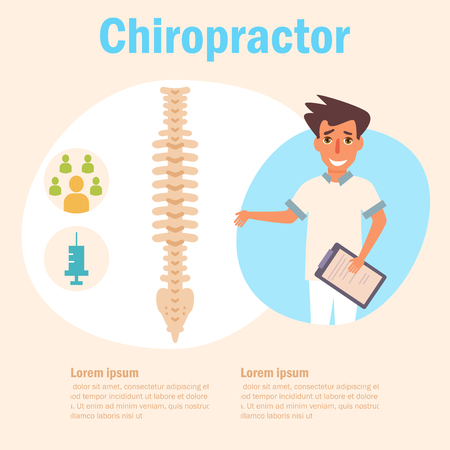Chiropractor Vector. Cartoon. Isolated Ilustracja