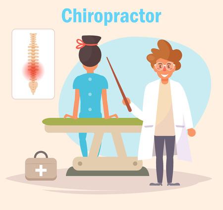 Chiropractor Vector cartoon.