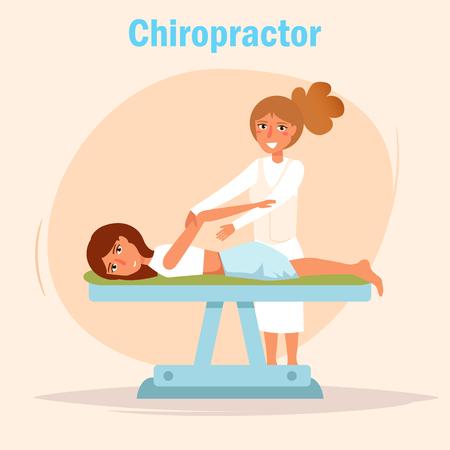 Chiropractor Massage Vector. Illustration