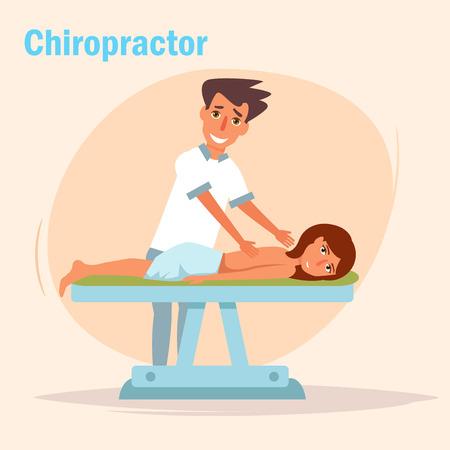 Therapeutic massage chiropractor Illustration