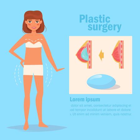 Plastic surgery. Breast Vector.