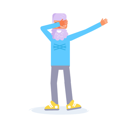 Dab dance Vector. Cartoon.