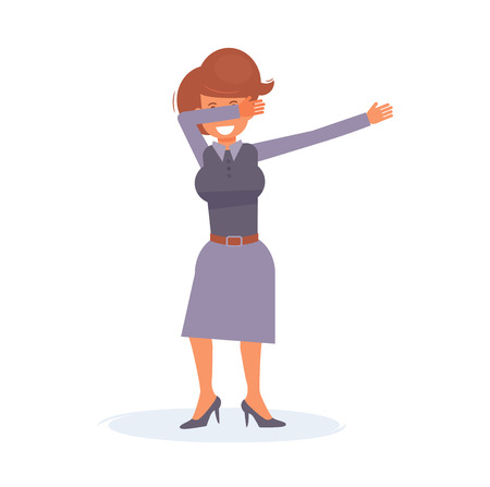 Dab dance Vector. Cartoon