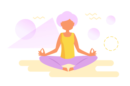 Yoga for the elderly Illustration