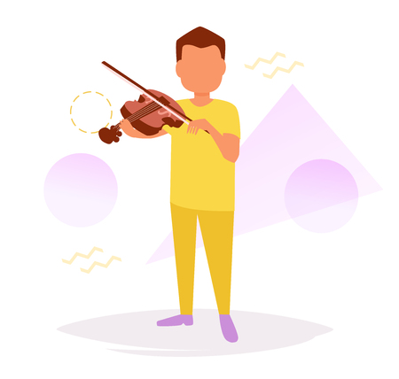 Man playing the violin Vector.