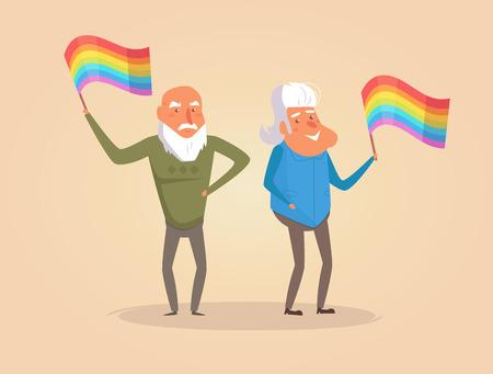 LGBT parade Vector. Cartoon. Isolated art Stock Photo