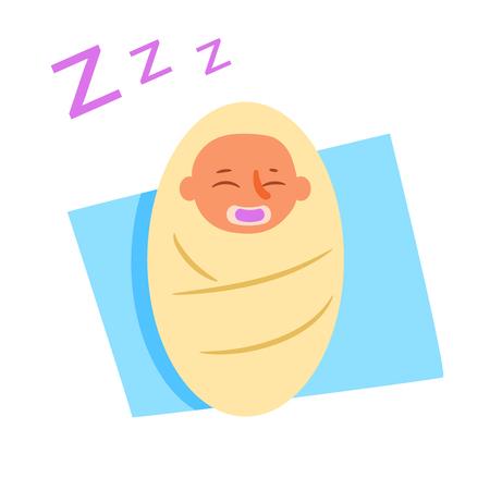 Baby asleep Vector. Cartoon. Isolated art Character