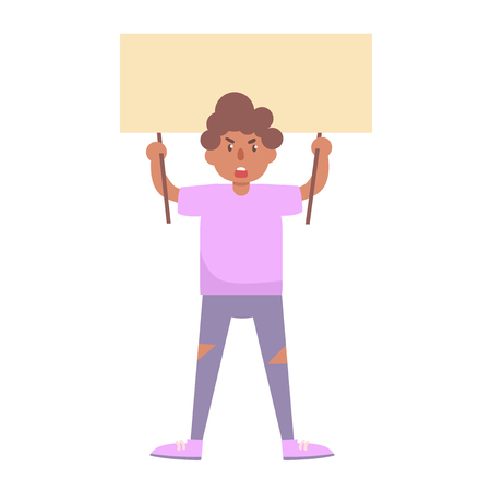Man shouts Vector. Cartoon. Isolated art on white background. Flat