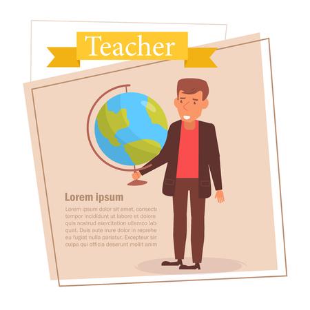 Teacher or businessman Vector. Cartoon. Isolated art on white background. 스톡 콘텐츠 - 125159117