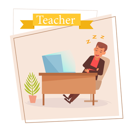 Teacher or businessman Vector. Cartoon. Isolated art on white background. 스톡 콘텐츠 - 125159118