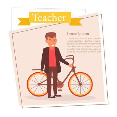 Teacher or businessman Vector. Cartoon. Isolated art on white background.