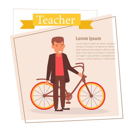 Teacher or businessman Vector. Cartoon. Isolated art on white background. 스톡 콘텐츠 - 125159119