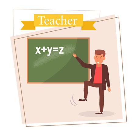 Teacher or businessman Vector. Cartoon. Isolated art on white background. 스톡 콘텐츠 - 125159121