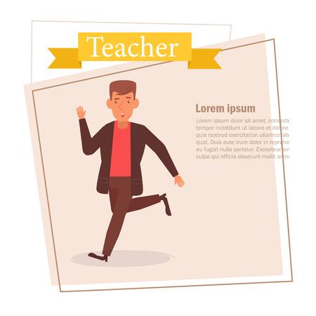 Teacher or businessman Vector. Cartoon. Isolated art on white background. 스톡 콘텐츠 - 125159128