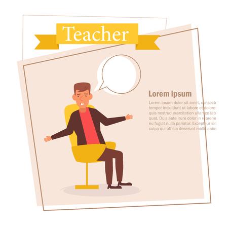 Teacher or businessman Vector. Cartoon. Isolated art on white background. Zdjęcie Seryjne - 125159129