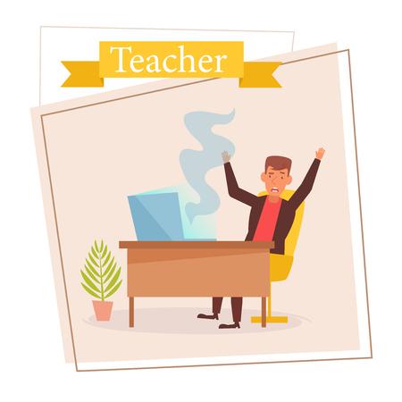 Teacher or businessman Vector. Cartoon. Isolated art on white background. Zdjęcie Seryjne - 125159130