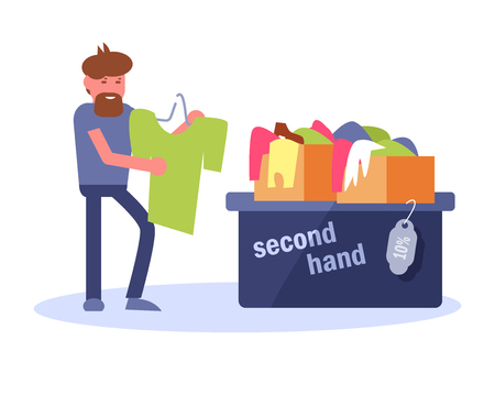 Second hand Vector. Cartoon. Isolated art on white background.