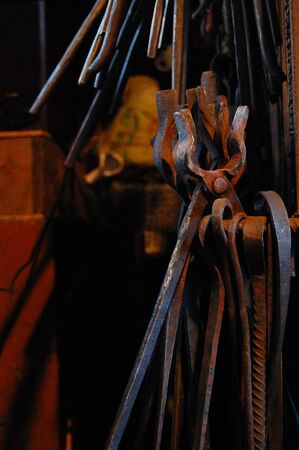 tongs: Blacksmith tongs Stock Photo