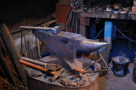 anvil: Hand anvil. hummers Stock Photo