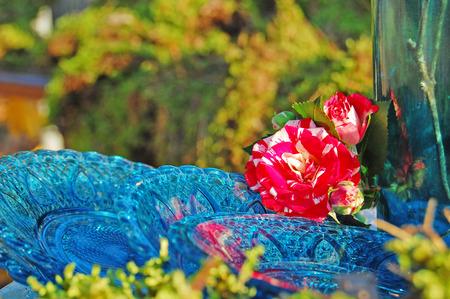 floristics: Garden with floristic decoration, floristics design