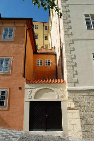 colorfull: Prague. Uvoz street. Colorfull background Stock Photo