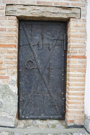forger: Old metal doors, wrought, made by forger Stock Photo