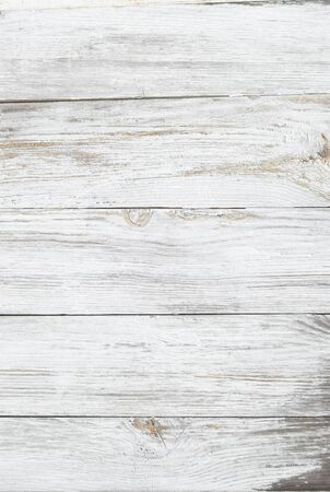 Weiß alten Holzzaun. Holzpalisaden Hintergrund. Bohlen Textur Standard-Bild - 90955621