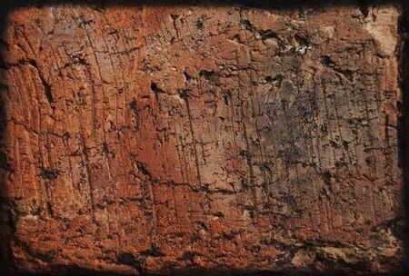 Brick wall background, orange redbrick