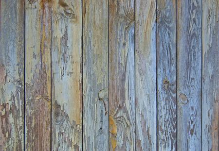 Blau alten Holzzaun. Holzpalisaden Hintergrund. Bohlen Textur Standard-Bild - 91018919