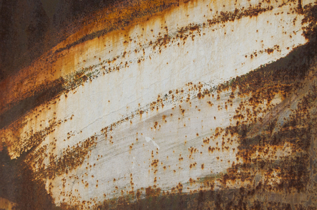 White old rusty background. grunge material. Damaged metal surface. Scratched plate