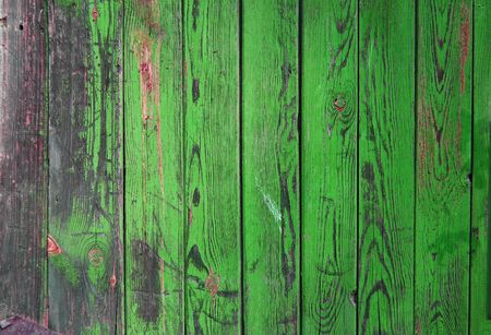 Wood planks, green texture, wooden background, fence, green