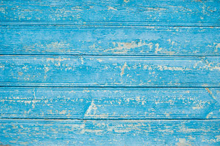 Blue old wooden fence. wood palisade background. planks texture Standard-Bild
