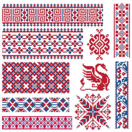Ethnic vector seamless patterns. Vettoriali
