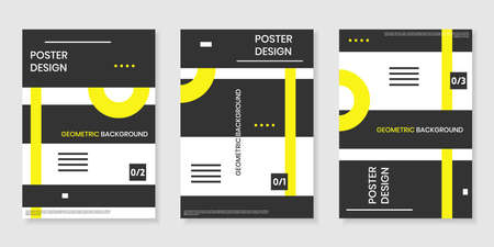 Covers templates set with trendy geometric patterns.