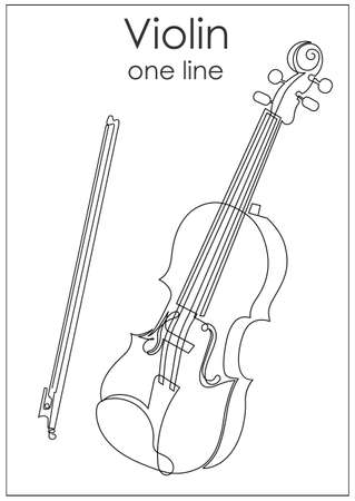 A violin painted with line.