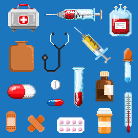 A set of pixel objects associated with medicine