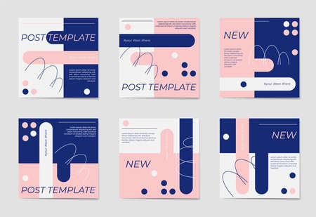 A set of social media post templates. For personal and business accounts.