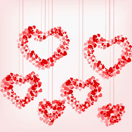 pattern of suspended hearts of little hearts