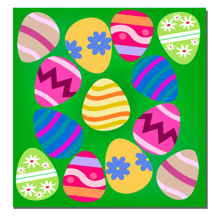 Image with Easter eggs on a claret background