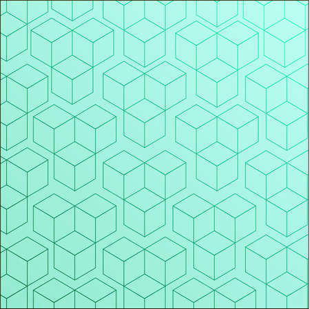 Completely seamless, abstract cube pattern.