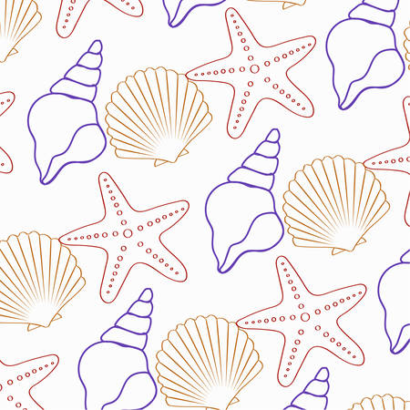 The seamless star-star pattern and shell
