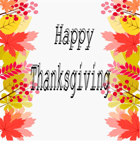 Happy Thanksgiving card design template vector illustration