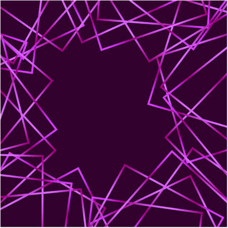 Abstract vector of squares in purple frame Illustration