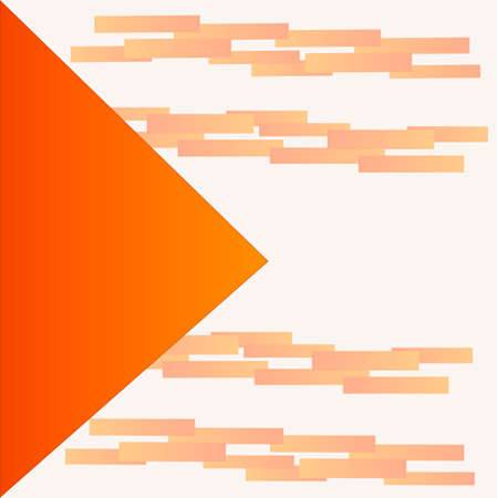 Vector abstract yellow white triangles background. illustration with triangle and rectangles orange Illusztráció