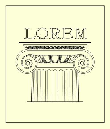 ionic: Ionic columns. The logo with the classic architecture.