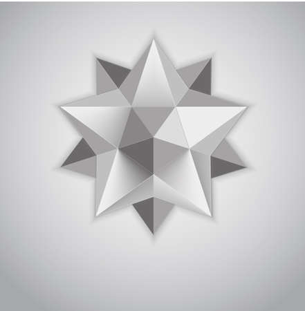 Figure Kepler. Dodekaidr. Stereometry. Complex polyhedra. Logotip for your design. creeping crystal