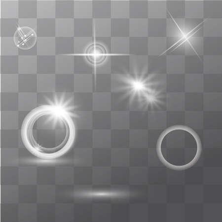 hotspot: Set of Glowing Light Stars with Sparkles Vector Illustration EPS10 Illustration